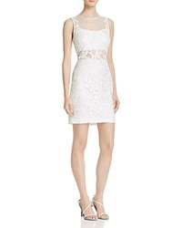 Aqua Illusion Lace Sheath Dress Ivory