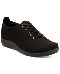 Clarks Collection Women's Cloud Steppers Sillian Tino Sneakers Women's Shoes Black Perf Microfiber
