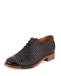 The Office Of Angela Scott Mr. Smith Perforated Patent Oxford Domino Women's