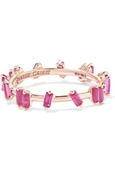 Suzanne Kalan Barbwire 18 Karat Rose Gold Ruby Ring 7