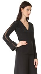 Cushnie Et Ochs V Neck Blouse Black
