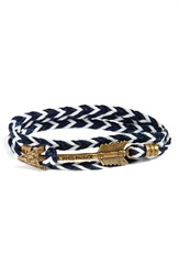 Kiel James Patrick 'Jayhawk' Wrap Bracelet Navy White