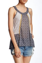 Jolt Halter Neck Printed Knit Tank Black
