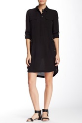 L.A.M.B. Silk Shirt Dress Black