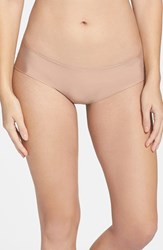 Women's Halogen 'No Show' Cheeky Hipster Briefs Beige Brush