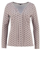 Comma Long Sleeved Top Grey Black Rose