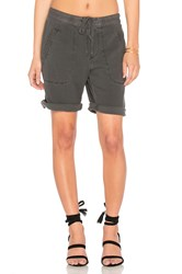 James Perse Super Soft Twill Utility Short Charcoal