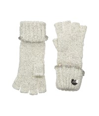 Betsey Johnson On The Rocks Half Finger Gloves Ivory Dress Gloves White