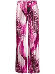 F.R.S For Restless Sleepers Palm Tree Print Trousers Purple