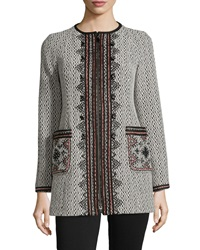 Nanette Lepore Matador Embroidered Zip Front Coat