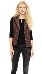 Otte New York Chloe Quilted Vest Gold Pink