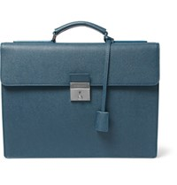 Dolce And Gabbana Grained Leather Briefcase Blue