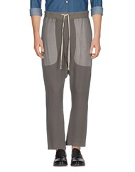 Rick Owens Casual Pants Lead