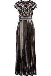 M Missoni Striped Knit Dress Multicolor