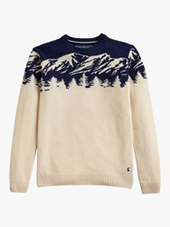 Joules Christmas Mountains Jumper Multi