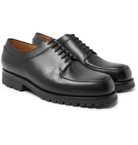 J.M. Weston Plateau Full Grain Leather Derby Shoes Black