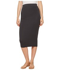 Michael Stars Pencil Skirt W Shirring Oxide Women's Skirt Blue