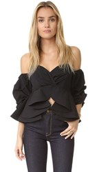 One By Stylekeepers Reveal And Conceal Off Shoulder Top Black