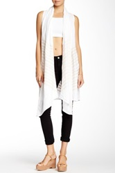 Jwla By Johnny Was Draped Long Linen Vest White