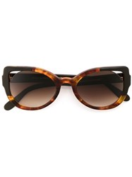 Martha Medeiros Cat Eye Sunglasses Brown