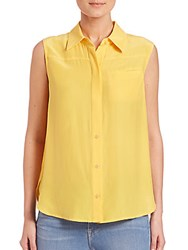 Peserico Le Sleeveless Button Up Canary
