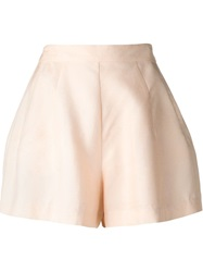 Fleur Du Mal Flared Shorts Nude And Neutrals