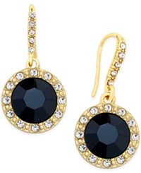 Inc International Concepts Round Blue Stone Drop Earrings Only At Macy's Black