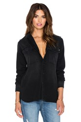 Ever Tyler Slim Boyfriend Denim Top Black
