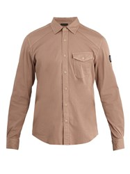 Belstaff Steadway Single Cuff Stretch Cotton Shirt Pink