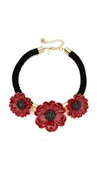 Kate Spade New York Precious Poppies Statement Necklace Red Multi