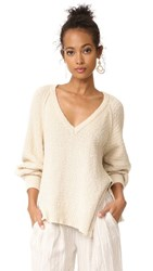 Free People West Coast Pullover Ivory