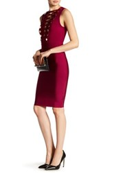 Wow Couture Criss Cross Embellished Bodycon Dress Red