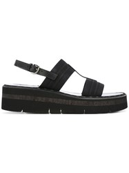 Sartore Straped Sandals Women Leather Polyamide Rubber 37 Black