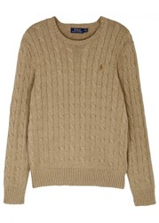 Polo Ralph Lauren Biscuit Cable Knit Cotton Jumper Beige