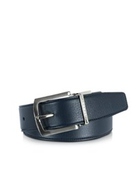 Moreschi Orlando Navy Blue Blue Reversible Leather Belt