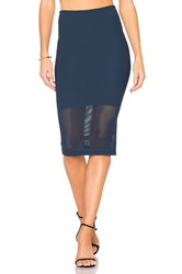 Bcbgeneration Mesh Panel Skirt Navy