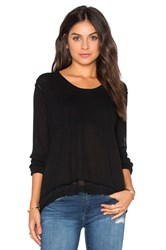 Wilt Shrunken Layered Sweater Black