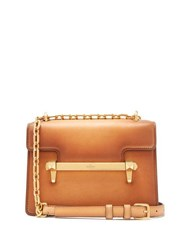 Valentino Uptown Small Leather Cross Body Bag Tan