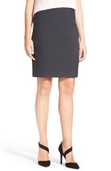 Halogen Crosshatch Suit Skirt Regular And Petite Black Navy Mini Crosshatch