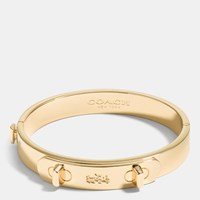 Coach Metal Swagger Hinged Bangle Gold
