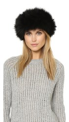 Adrienne Landau Fur Headband Black