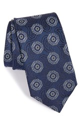Men's John W. Nordstrom 'Truth Medallion' Silk Tie Navy