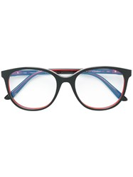 Cartier Oversized Round Frame Glasses Black