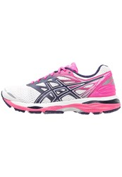 Asics Gelcumulus 18 Neutral Running Shoes White Indigo Blue Hot Pink