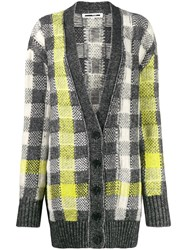 Mcq By Alexander Mcqueen Checked Knit Cardigan Neutrals