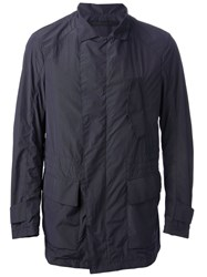 Giorgio Armani Straight Zip Jacket Blue