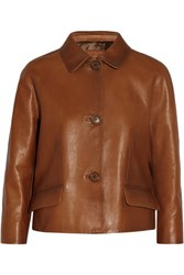 Prada Leather Jacket Tan