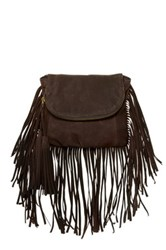 Cynthia Vincent Autumn 2 Leather Fringe Crossbody Brown