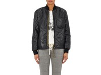 Nsf Women's Darryl Quilted Nylon Bomber Jacket Black