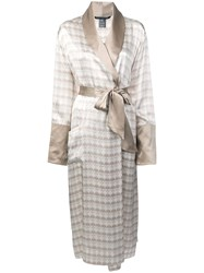 Thomas Wylde Printed Robe Coat Nude And Neutrals
